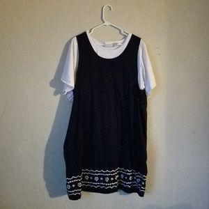 Fashion bug navy blue midi dress